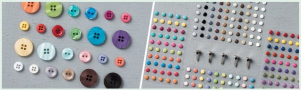 buttons and candy dots