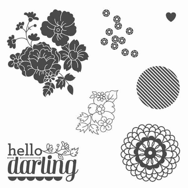 stampin up hello darling