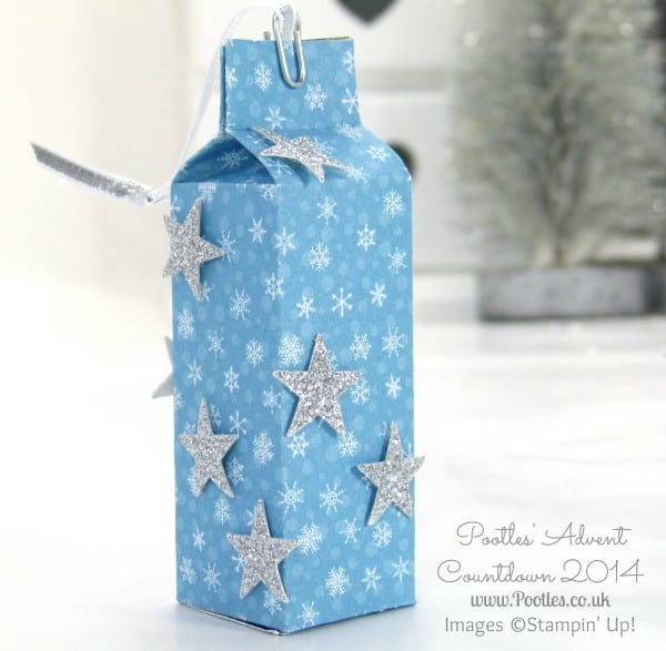Pootles Advent Countdown #3 Hershey Kisses Hanging Bag tutorial Single Bag