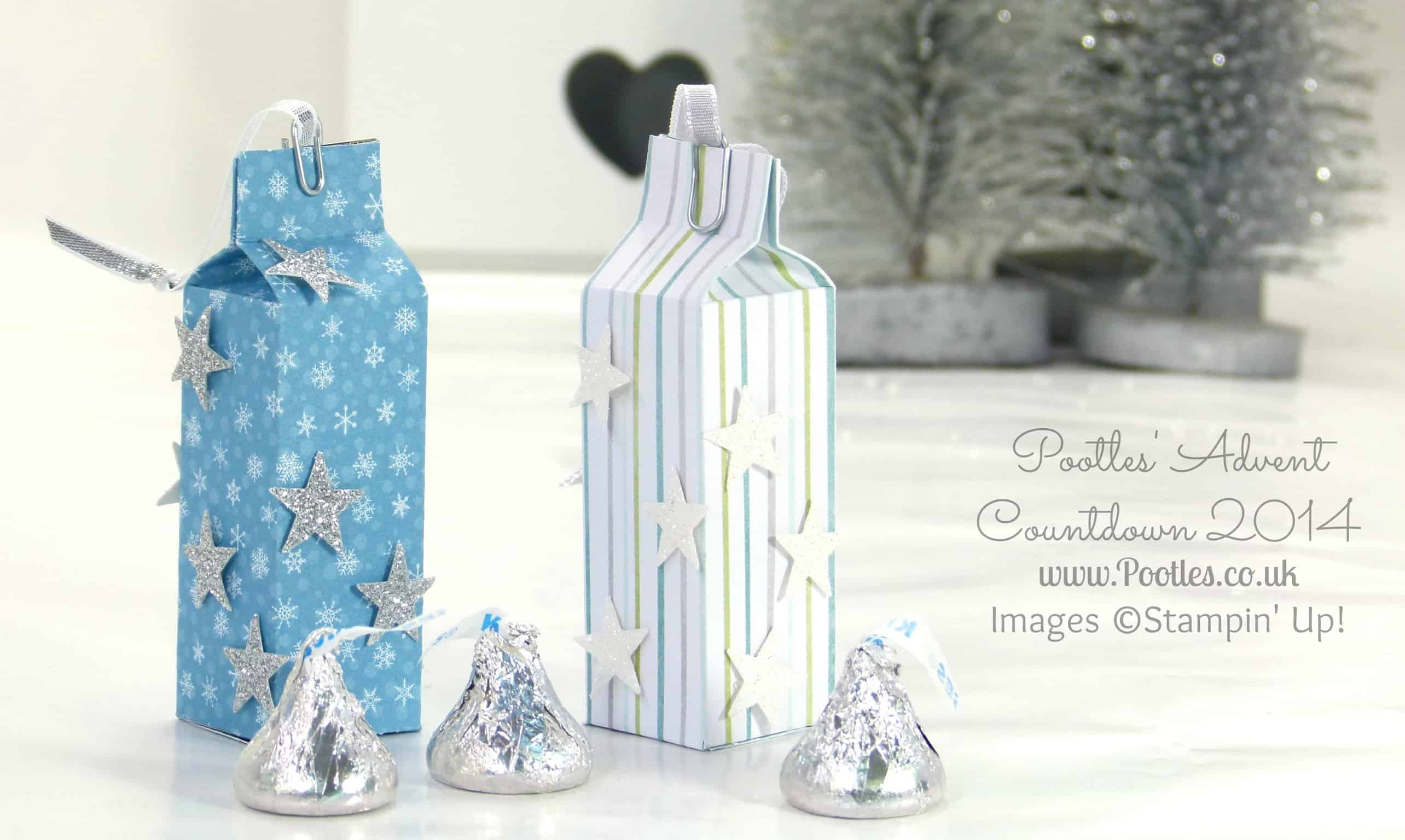Advent Countdown #3 Hershey Kisses Hanging Bag tutorial