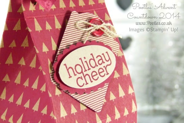 Pootles Advent Countdown #4 Large Choc Box Tutorial label close up