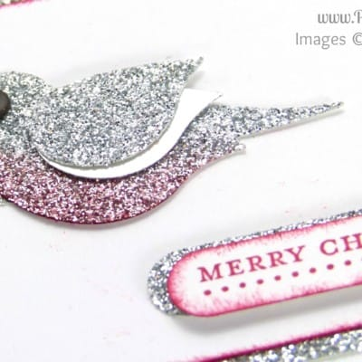 Mini Merry Christmas Card using Stampin' Up! Bird Builder Punch