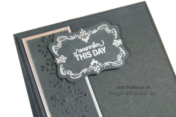 Pootles South Hill & Stampin Up Sunday Heat Embossed Crystal Card Tutorial heat embossing detail