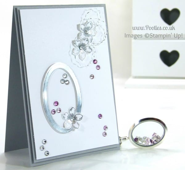 Pootles South Hill & Stampin' Up! Sunday Oval Flower Showcase Tutorial Card and Locket