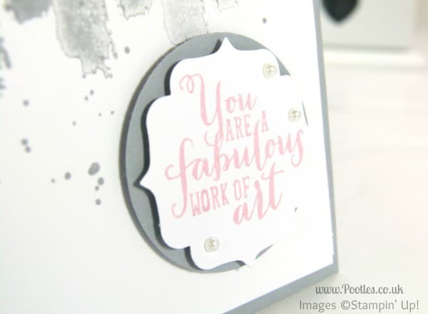 Pootles Stampin' Up! European Convention Swaps Stamping Detail