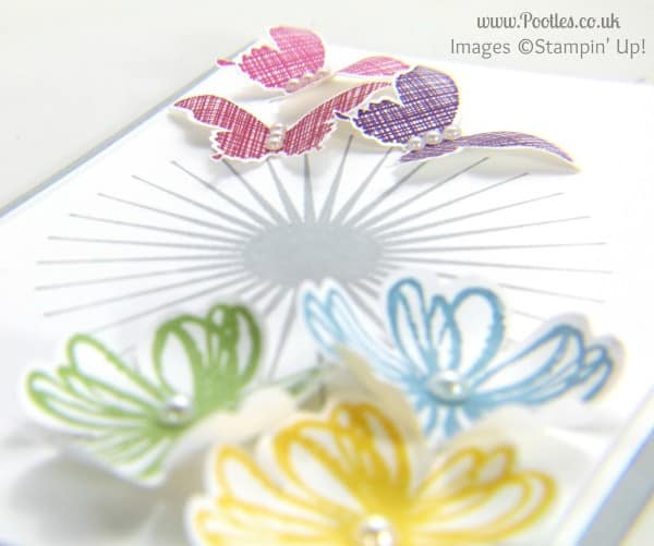 Pootles Stampin' Up! UK Butterflies and Flowers Card Inspired by.... Spoons 3D effect