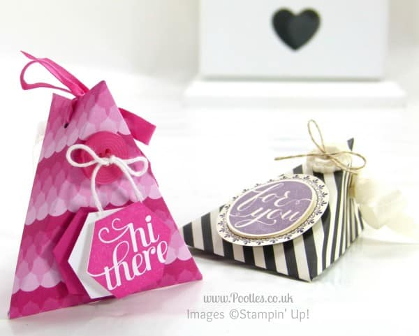 Pootles Stampin' Up! UK Demonstrator - 6x6 (3x6!) Triangle Treat Pouch Tutorial