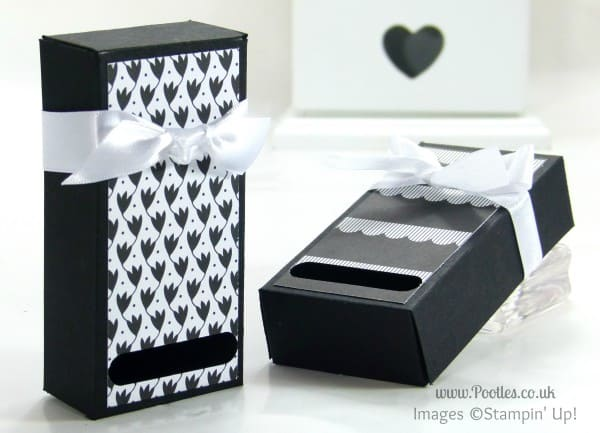 Stampin' Up! UK Demonstrator Pootles 2 Fold Flat Soap Boxes from 1 Piece of Cardstock