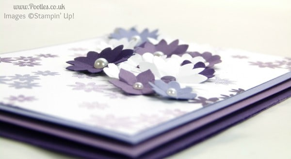 Stampin' Up! UK Demonstrator Pootles - A Purple Blossom Garden Party side profile