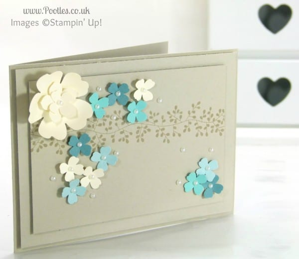 Stampin' Up! UK Demonstrator Pootles - Clusters of Flowers in Aquas