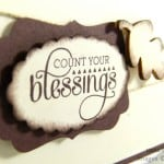 Stampin' Up! UK Demonstrator Pootles - Count Your Blessings Simple Soft Card close up