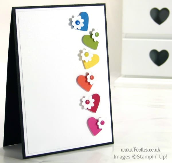 Stampin' Up! UK Demonstrator Pootles - Hearts and Flowers inspired by candles!