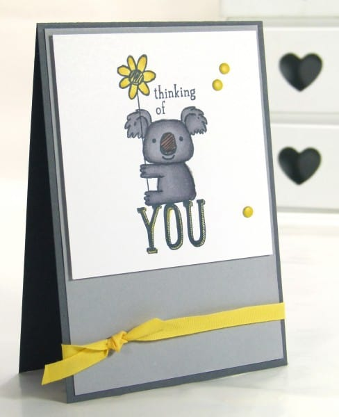Stampin' Up! UK Demonstrator Pootles - Kind Koala. I braved the Blendabilities...