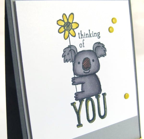 Stampin' Up! UK Demonstrator Pootles - Kind Koala. I braved the Blendabilities... close up