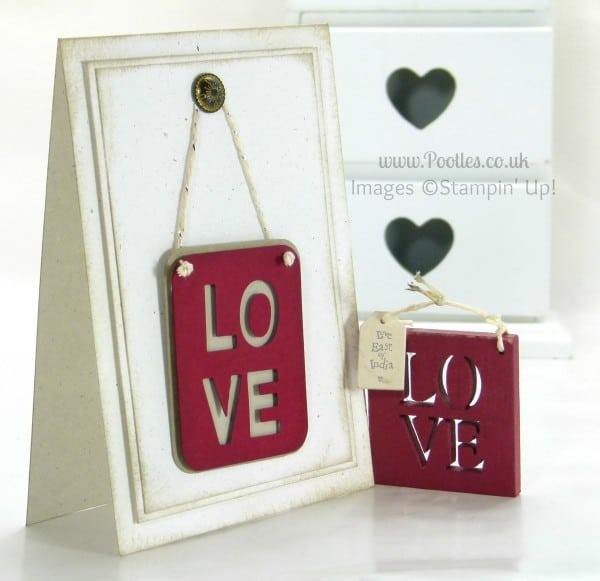 Stampin' Up! UK Demonstrator Pootles - Little Letters Love Inspiration