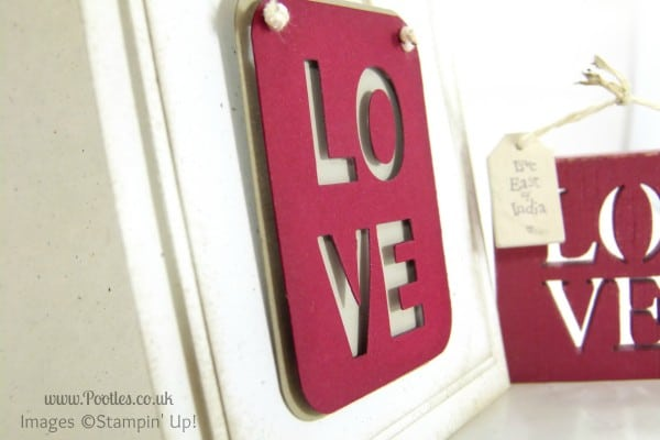 Stampin' Up! UK Demonstrator Pootles - Little Letters Love Inspiration Layered Detail