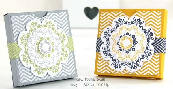 Stampin' Up! UK Demonstrator Pootles - Slimline Fold Flat Box Tutorial