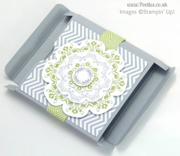 Stampin' Up! UK Demonstrator Pootles - Slimline Fold Flat Box Tutorial Folded Out