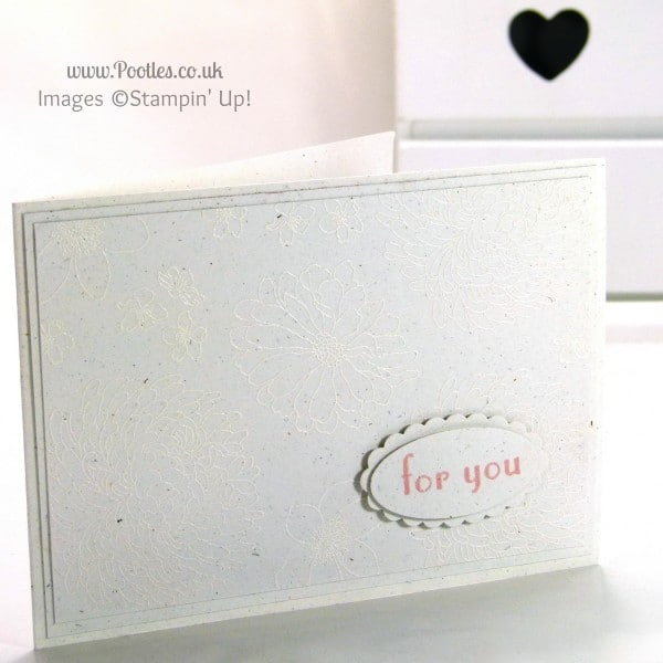 Stampin' Up! UK Independent Demonstrator Pootles - White on White Heat Embossing