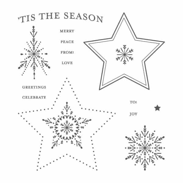 many merry stars stamp set