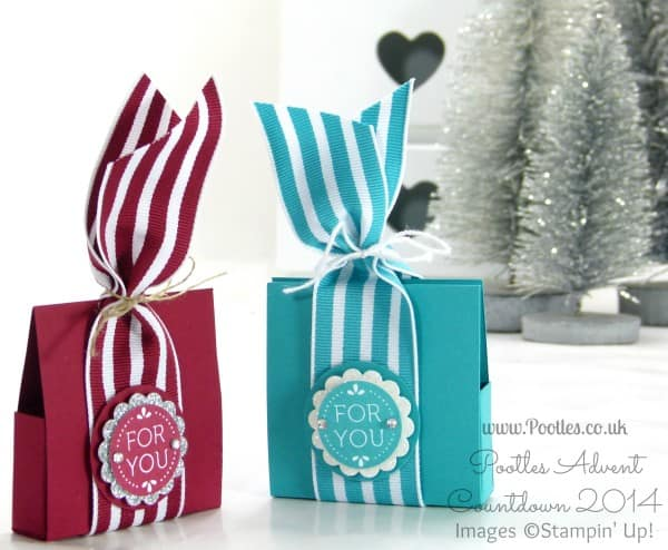Pootles Advent Countdown #12 Little Chocolate Treat Box Tutorial