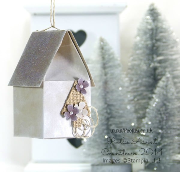 Pootles Advent Countdown #13 Frosty House Decoration Tutorial Hanging
