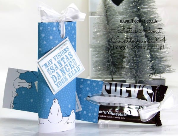 Pootles Advent Countdown #16 Slider Chocolate Bar Tutorial using Stampin' Up! DSP
