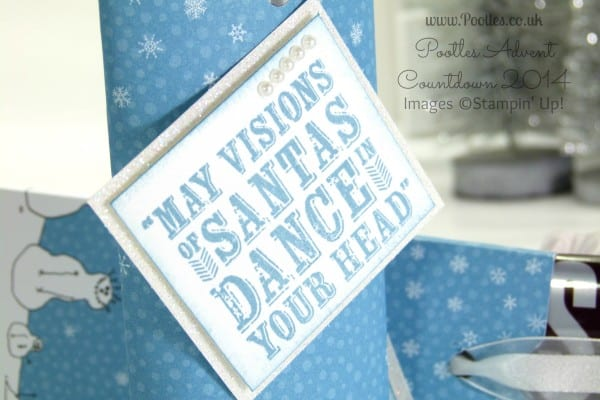 Pootles Advent Countdown #16 Slider Chocolate Bar Tutorial using Stampin' Up! DSP Tag