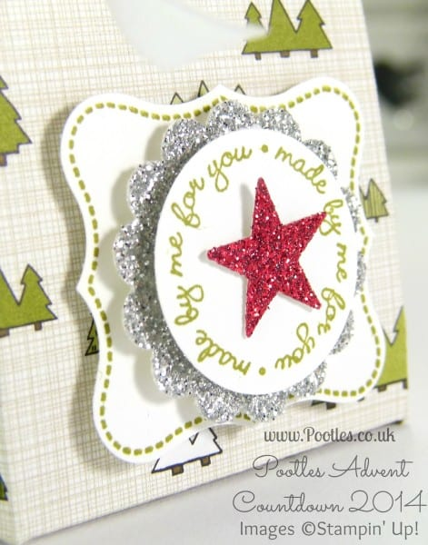 Pootles Advent Countdown #18 Adorable Baby & Christmas Bag Tutorial Stamped Detail