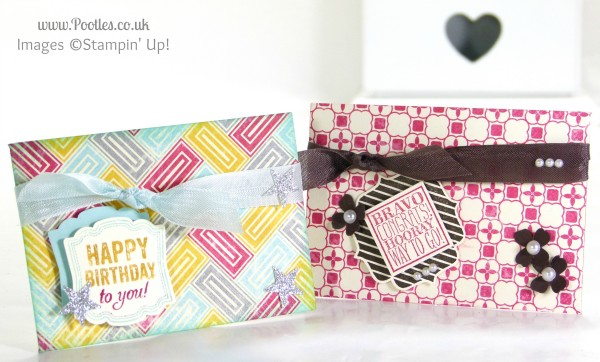 Pootles Stampin' Up! UK Demonstrator - 6x6 Gift Card Holder Tutorial using Stampin' Up! Die