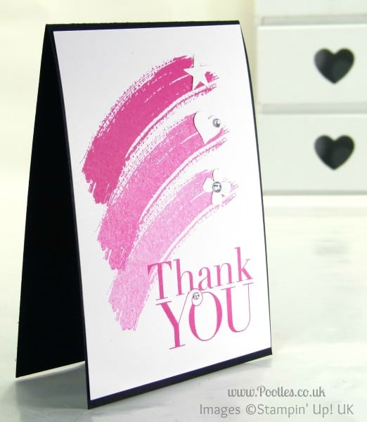 Pootles' Thank You Card Tutorial using Stampin' Up! Work of Art + Giveaway