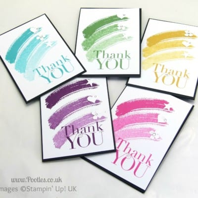 Thank You Card Tutorial using Stampin' Up! Work of Art + Giveaway