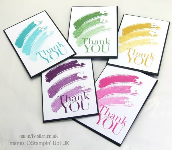 Pootles' Thank You Card Tutorial using Stampin' Up! Work of Art + Giveaway Full Set