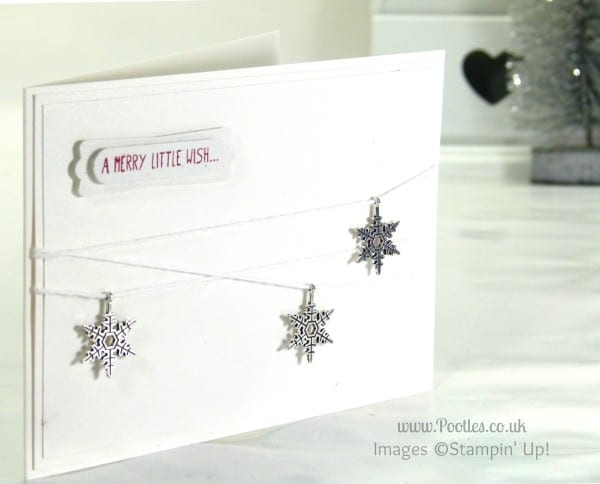 Simple Sparkle with Stampin' Up! Snowflake Embellishments