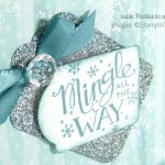 South Hill Designs & Stampin' Up! Sunday Frosty Blues Showcase Card close up