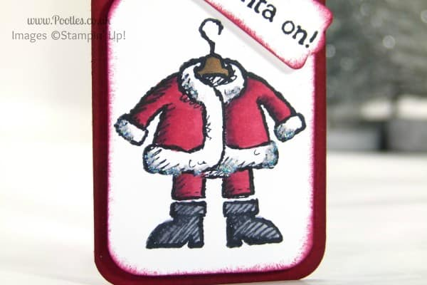 Stampin' Up! UK Demonstrator Pootles - Get your Santa on with Stampin' Up! Blendabilities detailed