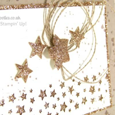 Gorgeous Grunge Starry Card