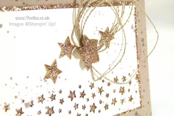 Stampin' Up! UK Demonstrator Pootles - Gorgeously Grungy Starry Card star detail