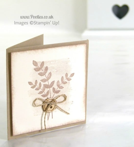 Stampin' Up! UK Demonstrator Pootles - Grateful For All Things. Quick card, just because