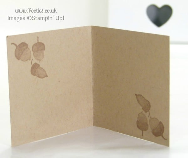 Stampin' Up! UK Demonstrator Pootles - Grateful For All Things. Quick card, just because Inside