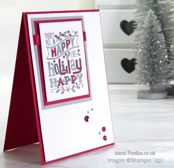Stampin' Up! UK Demonstrator Pootles - Mingle All The Way with Reds & Greys....