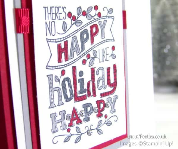 Stampin' Up! UK Demonstrator Pootles - Mingle All The Way with Reds & Greys.... Marker Detail