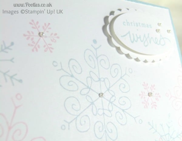 Stampin' Up! UK Demonstrator Pootles - Pink Pirouette & Soft Sky Endless Wishes close up