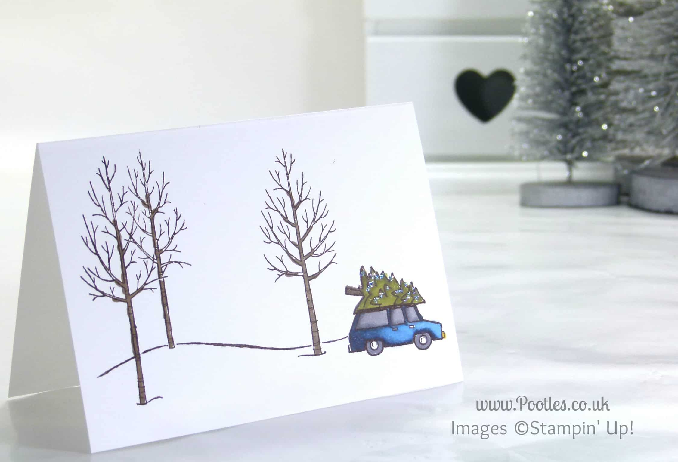 a white christmas with stampin up uk