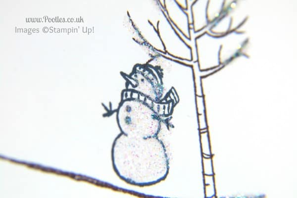 Stampin' Up! UK Independent Demonstrator Pootles - A White Christmas with Stampin' Up! UK snowman