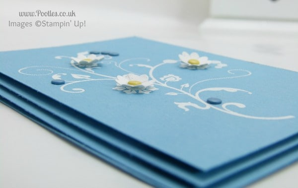 Stampin' up! UK Demonstrator Pootles. Marina Mist card inspired by nail polish elevated detail