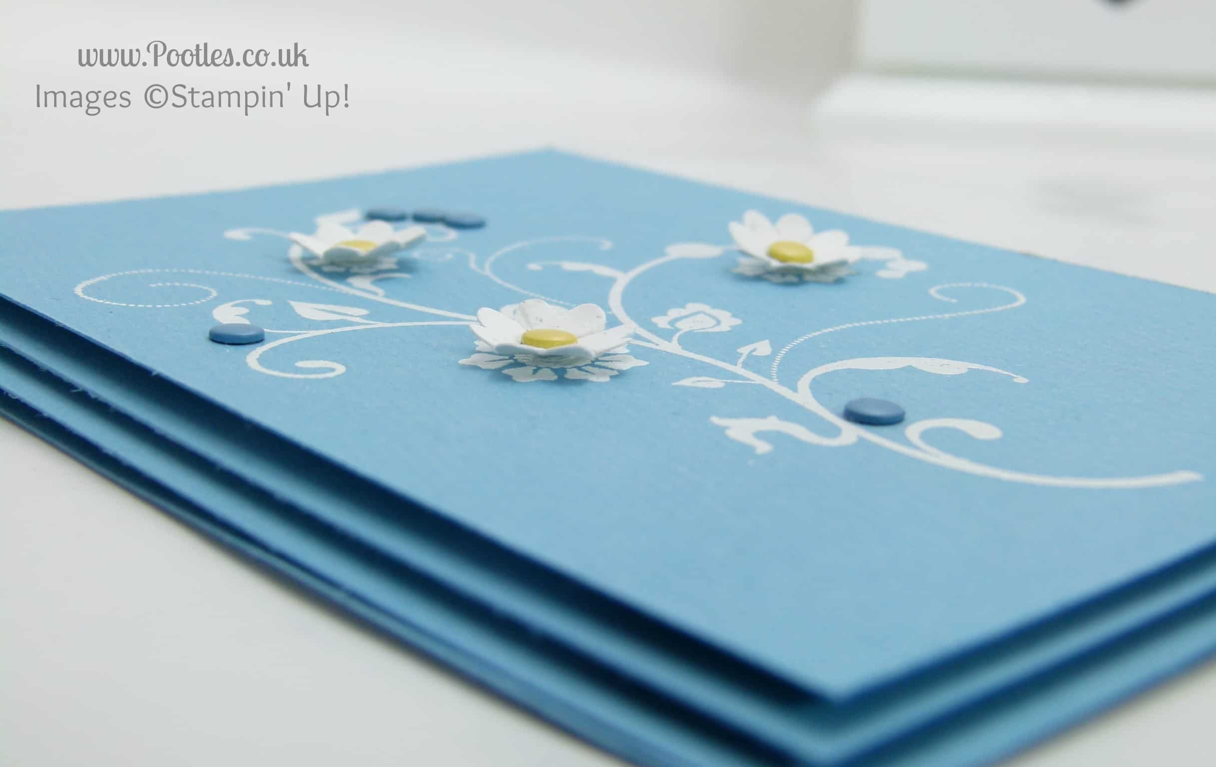 Flowering Flourishes Marina Mist Card Inspired by Nail Polish