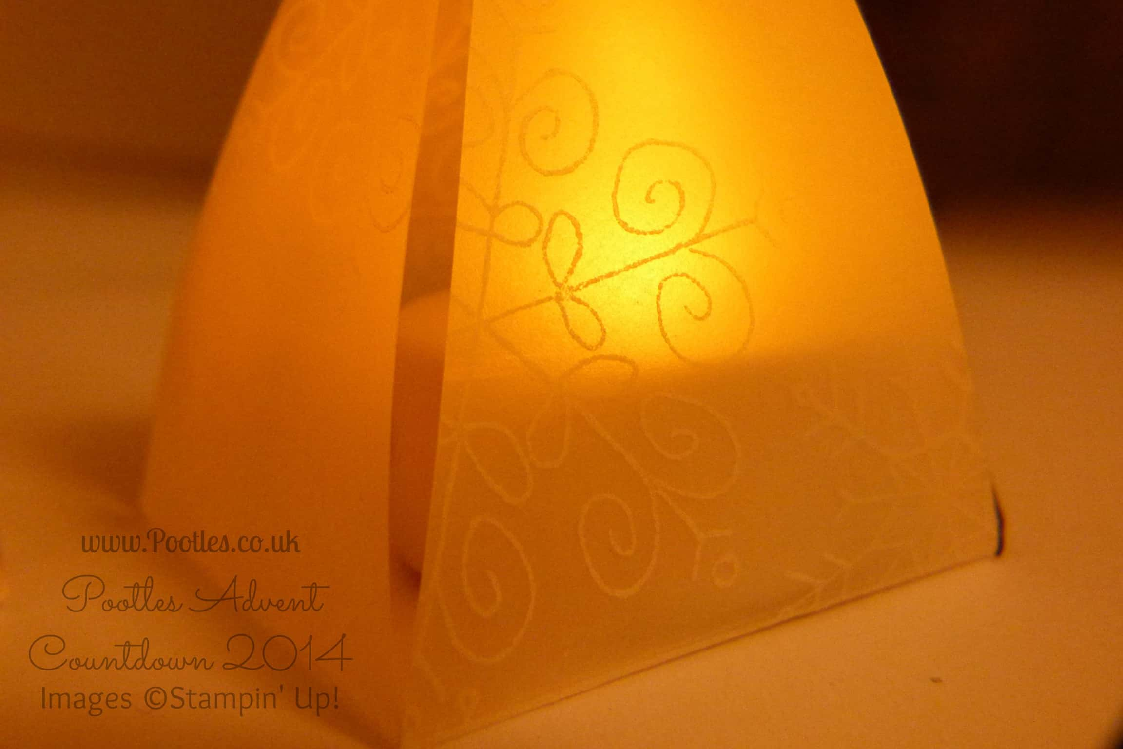 Pootles Advent Countdown #20 Envelope Punch Board Lantern Tutorial
