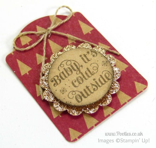 Quick Note Tag Punch Under the Tree Tags Close Up