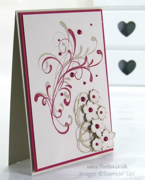 Stampin' Up! UK Demonstrator Pootles - Cherry & Crumb Floral Card using Stampin' Up! Everything Eleanor & Petite Petals
